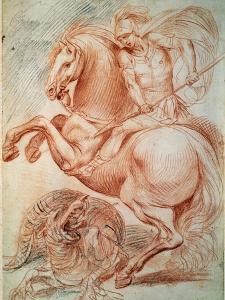 Saint George and the Dragon, 17th Century by Giuseppe Cesari