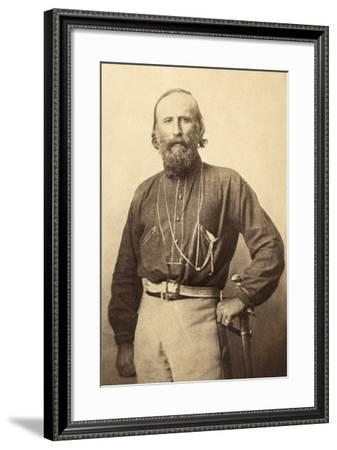 Giuseppe Garibaldi, from a 19th Century Photograph--Framed Photographic Print