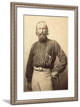 Giuseppe Garibaldi, from a 19th Century Photograph--Framed Photographic Print