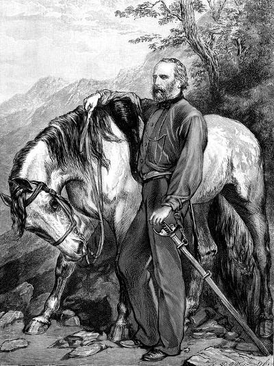 Giuseppe Garibaldi, Italian Patriot and Soldier of the Risorgimento, 1861--Giclee Print