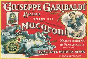 Giuseppe Garibaldi Macaroni Label