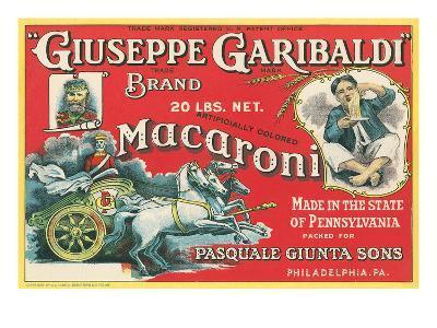 Giuseppe Garibaldi Macaroni Label--Art Print