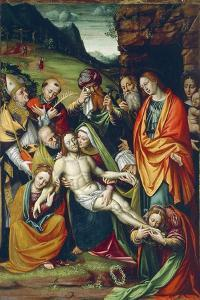 Lamentation of Dead Christ on Cross by Giuseppe Giovenone
