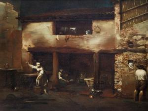 Farmhouse Scene, 1710-1715 by Giuseppe Maria Crespi