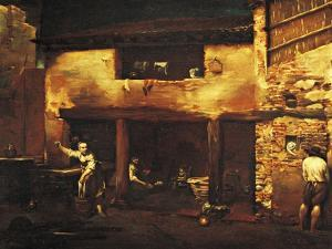 Figures in the Courtyard of a Country House, 1709 by Giuseppe Maria Crespi