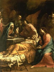The Death of St. Joseph, C.1712 by Giuseppe Maria Crespi