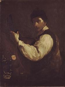 The Luteplayer by Giuseppe Maria Crespi