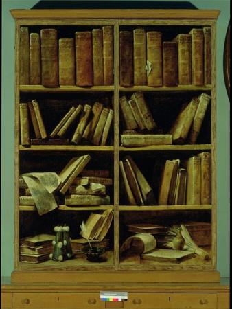 Trompe L'Oeil of a Bookcase, 1710-20