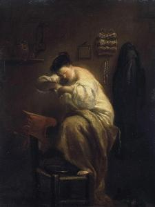 Woman Looking for Fleas, 1710S by Giuseppe Maria Crespi