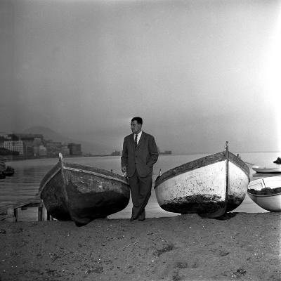Giuseppe Marotta in Naples, 23rd November 1956--Photographic Print
