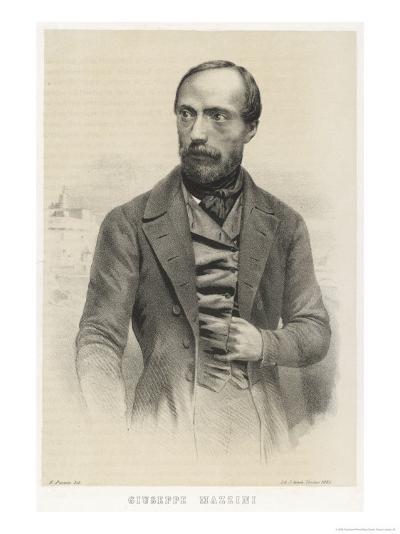 Giuseppe Mazzini Italian Patriot-Ferdinand Perrin-Giclee Print