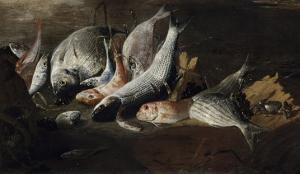 Nature morte. Poissons et crabes by Giuseppe Recco