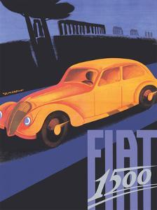 Fiat 1500 - The Appian Way (Ancient Rome Road) by Giuseppe Riccobaldi