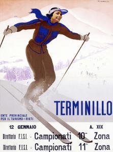 Terminillo, Women Snow and Ski by Giuseppe Riccobaldi