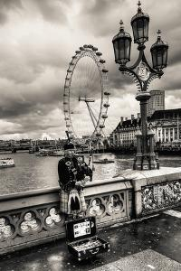 Bag Piper on Bridge by Giuseppe Torre