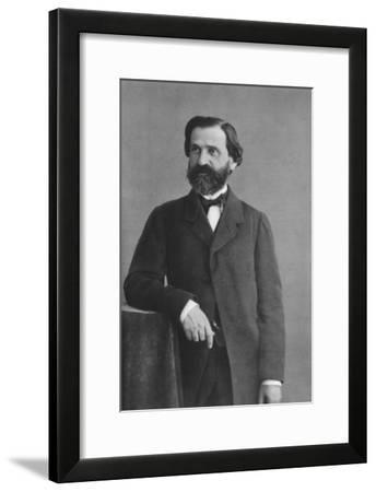 Giuseppe Verdi (1813-190), Italian Romantic Composer, Mainly of Opera-Felix Nadar-Framed Giclee Print