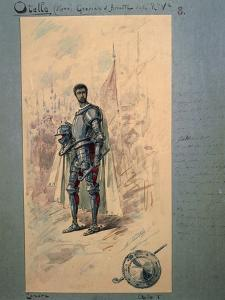 Costume Sketch by Alfred Edel for the First Act of the Opera Otello by Giuseppe Verdi