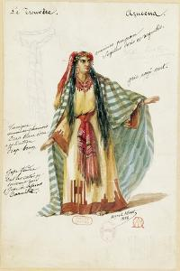 France, Paris, Costume Sketch for Azucena in the Troubadour by Giuseppe Verdi