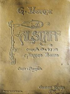 "Italy, Milan, Cover of Opera ""Falstaff"" by Giuseppe Verdi"