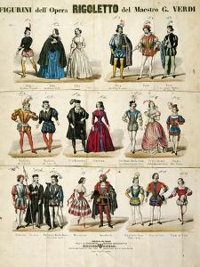 "Italy, Milan, Sketches for ""Rigoletto"" by Giuseppe Verdi"