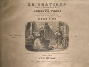 Italy, Milan, Title Page of 'La Traviata' by Giuseppe Verdi