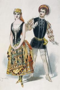 Mr Ibos and Mlle Richard as Duke of Mantua and Maddalena in Opera Rigoletto by Giuseppe Verdi