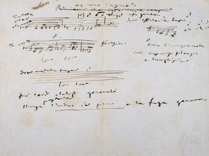 Notes Taken by Giuseppe Verdi
