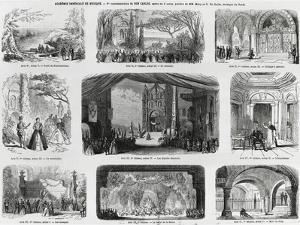 Set Design for Premiere of Opera Don Carlos by Giuseppe Verdi