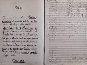 Sheet Music of Dies Irae by Giuseppe Verdi