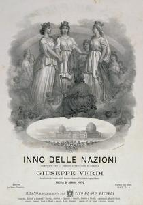 Title Page of Hymn of Nations by Giuseppe Verdi