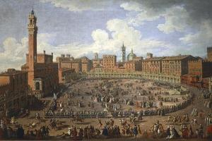 Il Palio Di Siena Run in Honor of Francis I and Maria Theresa of Austria on April 3Rd by Giuseppe Zocchi
