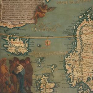 Map of Iceland, Scotland, Norway and Sweden by Giustino Menescardi