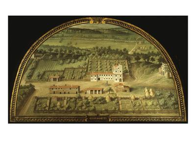 Colle Salvetti, Tuscany, Italy, from Series of Lunettes of Tuscan Villas, 1599-1602