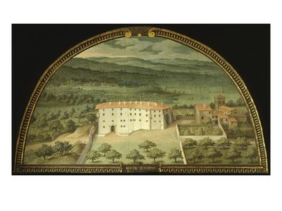 Monte Viturino, Tuscany, Italy, from Series of Lunettes of Tuscan Villas, 1599-1602