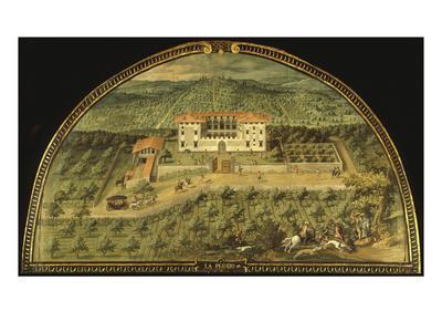 Villa La Peggio, Tuscany, Italy, from Series of Lunettes of Tuscan Villas, 1599-1602
