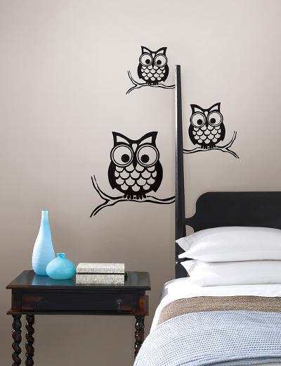 Give a Hoot Wall Art Kit--Wall Decal