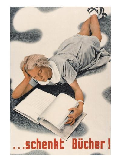 Give Books, German Poster--Art Print