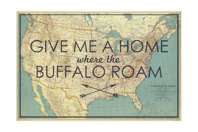 Give Me A Map Of The United States.Give Me A Home Where The Buffalo Roam 1933 United States Of