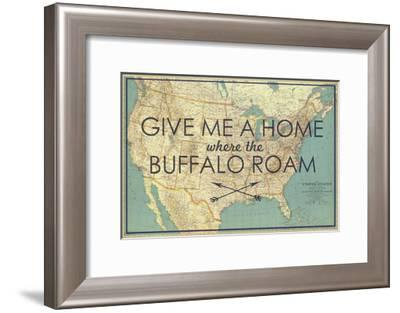 Give me a Home where the Buffalo Roam - 1933 United States of America Map-National Geographic Maps-Framed Giclee Print