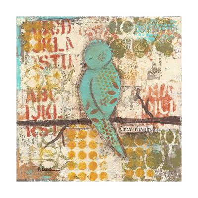 Give Thanks Bird-Cassandra Cushman-Art Print