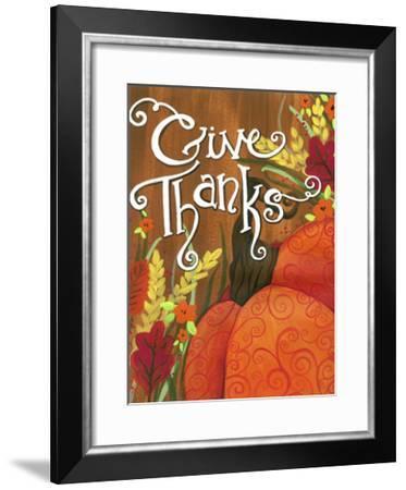 Give Thanks Swirl Pumpkin-Jennifer Nilsson-Framed Giclee Print