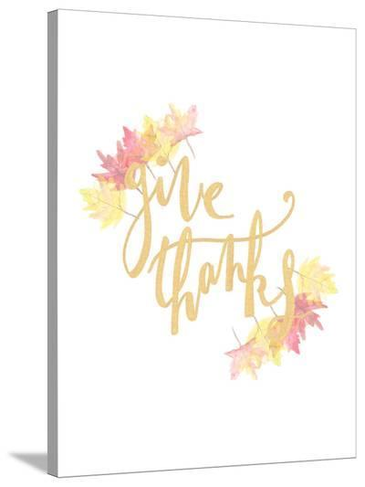 Give Thanks-Jetty Printables-Stretched Canvas Print