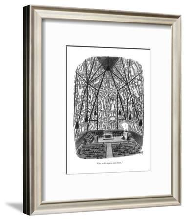 """Give us this day no sonic boom."" - New Yorker Cartoon-Robert J. Day-Framed Premium Giclee Print"