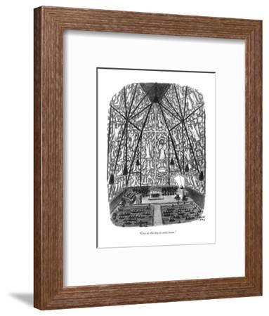 """""""Give us this day no sonic boom."""" - New Yorker Cartoon-Robert J. Day-Framed Premium Giclee Print"""