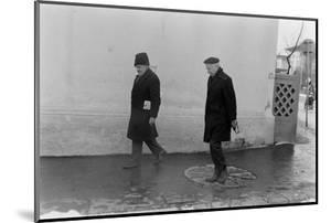 1975: View of Two Unidentified Members of Photographer Gjon Mili's Family, Romania by Gjon Mili