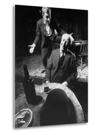 Actors Jason Robards Jr. and Farrell Pelly in a Scene from the Play The Iceman Cometh