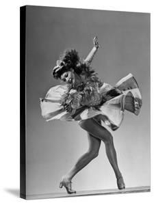 and Dancer Betty Bruce Doing a Routine From Broadway Show High Kickers by Gjon Mili