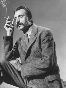 Armenian Artist Arshile Gorky Holding a Cigarette by Gjon Mili