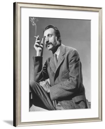 Armenian Artist Arshile Gorky Holding a Cigarette