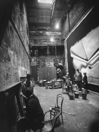 Backstage at the Abbey Theater, Dublin